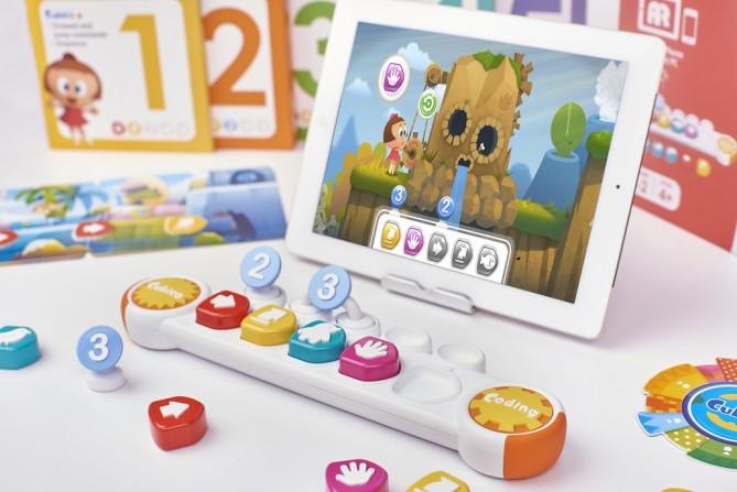 국내 업체가 개발한 유아용 코딩 교육 도구 큐비코. - PDM 제공